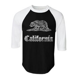 "Men's ""Cali"" 100% Cotton Jersey Raglan"