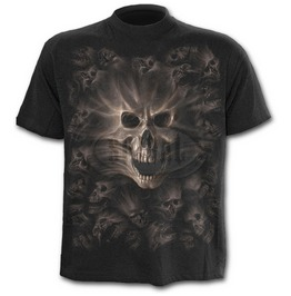 Spiral Mens Screaming Souls T Shirt Black