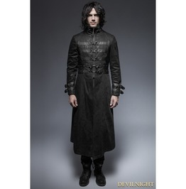 Black Gothic Punk Killer Buckle Outer For Men Y 633