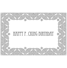 Happy F Cking Birthday Color In Paper Placemat Pad