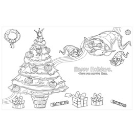 Happy Holidays. Hope You Survive Them Color In Placemats