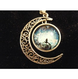 Stunning Moon And Galaxy Pendant For The Moon Goddess Fairy! Necklace