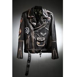 Grunge Leather Rider Jacket
