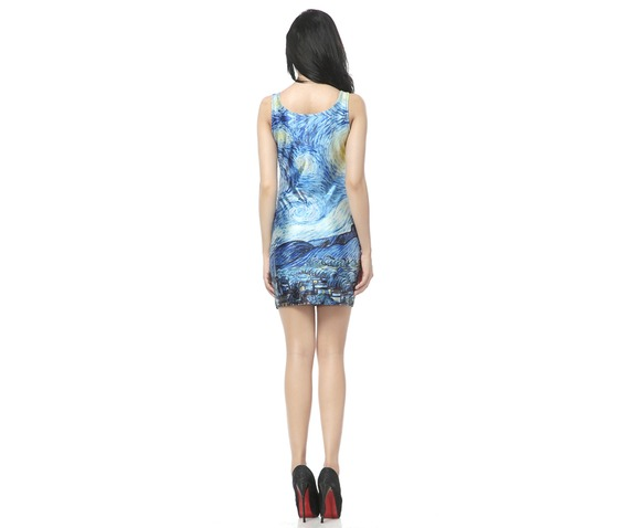 Oil Painting Starry Night Bodycon Dress Tank Tops_Dresses_2.jpg