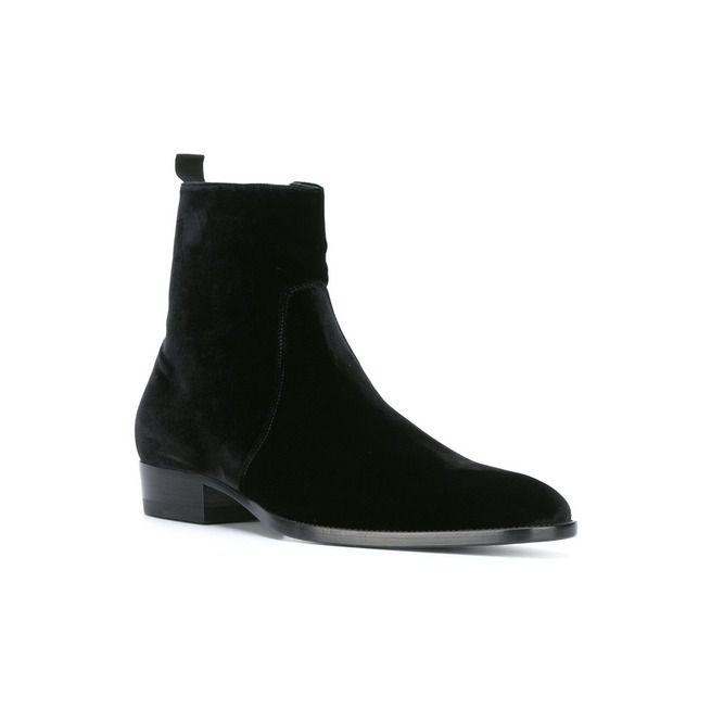 4d447ea7020462 Men Black Chelsea Boots, Men Black Ankle High Boot, Men   RebelsMarket