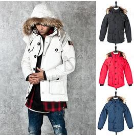 Sophisticate Fur Hood Accent Down Jumper 25