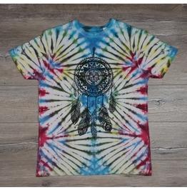 Tie Dye Multicolor Dreamcatcher Unisex T Shirt
