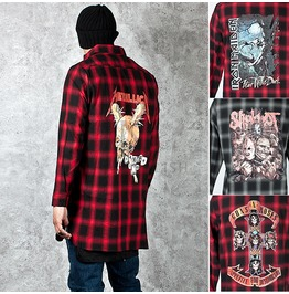 Checkered Rock Band Long Shirts 149