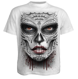 Spiral Mens Death Mask T Shirt White E019 M113 / Ds135619