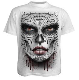 Spiral Mens Death Mask T Shirt White E019 M113 / Ds135619
