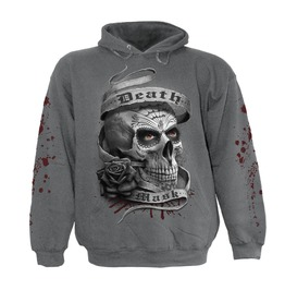 Spiral Mens Death Mask Hoody Charcoal Ds135822