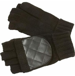 Men's Convertible Black Winter Gloves/Mittens