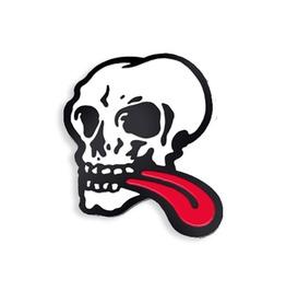 Skull Tongue Enamel Pin By John Van Hamersveld (1971)