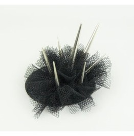 Spike Stud Crown Hair Clip Headpiece With Silver Spikes And Veil