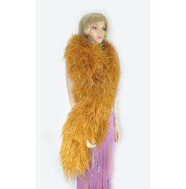 "Topaz 20 Plys Fluffy Luxury Ostrich Feather Boa 71"" Long (180 Cm)"