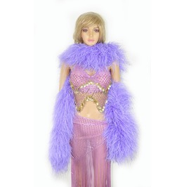"""Aqua Violet 20 Ply Full And Fluffy Luxury Ostrich Feather Boa 71"""" (180 Cm)"""