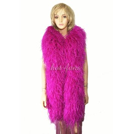 """Hot Pink 20 Ply Full And Fluffy Luxury Ostrich Feather Boa 71"""" (180 Cm)"""