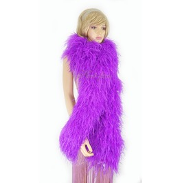"""Lavender 20 Ply Full And Fluffy Luxury Ostrich Feather Boa 71"""" (180 Cm)"""