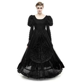 Gothic Lolita Stitching Designs Evening Prom Tube Dress Black Fold Lq071