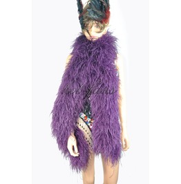 "Dark Purple 20 Ply Full And Fluffy Luxury Ostrich Feather Boa 71"" (180 Cm)"