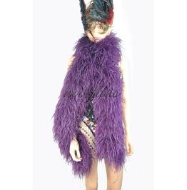 "Dark Purple 20 Ply Full And Fluffy Luxury Ostrich Feather Boa 71"" (180 Cm)"