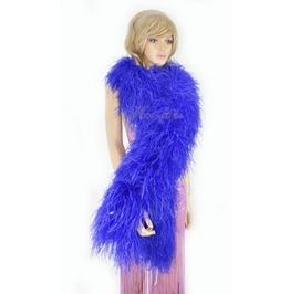 """Royal Blue 20 Ply Full And Fluffy Luxury Ostrich Feather Boa 71"""" (180 Cm)"""