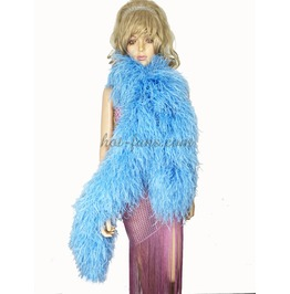 """Sky Blue 20 Ply Full And Fluffy Luxury Ostrich Feather Boa 71"""" (180 Cm)"""