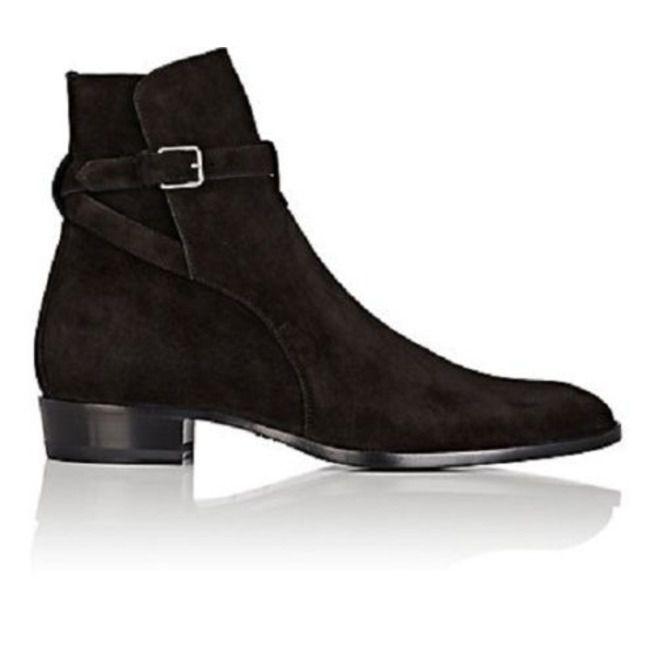 1701c28fe3d Handmade Mens Black Suede Leather Boots, Men Black | RebelsMarket