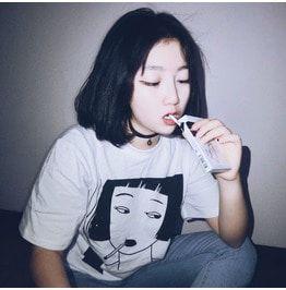Smoking girl t shirt camiseta chica fumando wh258 t shirts