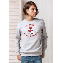 Japanese Sweatshirt Kawaii Christmas Penguin Cute Jumper Sweater Manga Xmas