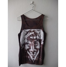 Joker And Snoop Dog 2 Sided Acid Stone Washed Comic Hip Hop Tank Top Vest M