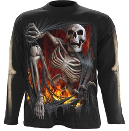 Spiral Mens Death Re Ripped Longsleeve Black Tr385700