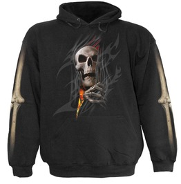 Spiral Mens Death Re Ripped Hoody Black Tr385800