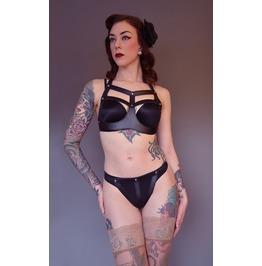 Sabrina Pu & Metal Bdsm Bra And Panties
