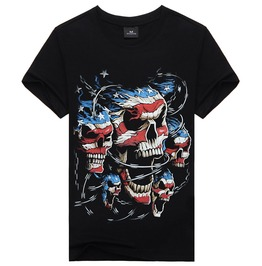 New Punk Fashion 3 D Skull Printed Men's T Shirts