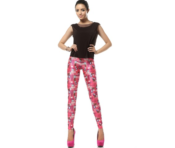 Welcome Pink World Barbie Pink Kawaii Leggings_Leggings_6.jpg