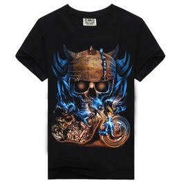 3 D Skull Printed Hip Hop Style Men's T Shirts