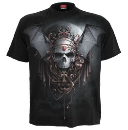 New Men,S Goth Night Vampire Black T Shirt