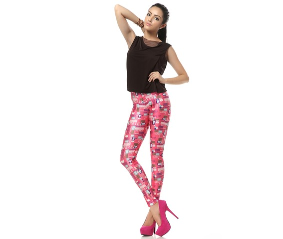 Welcome Pink World Barbie Pink Kawaii Leggings_Leggings_5.jpg