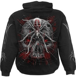 Men,S New Black Gothic Spider Skull Hoody