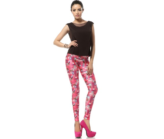 Welcome Pink World Barbie Pink Kawaii Leggings_Leggings_4.jpg