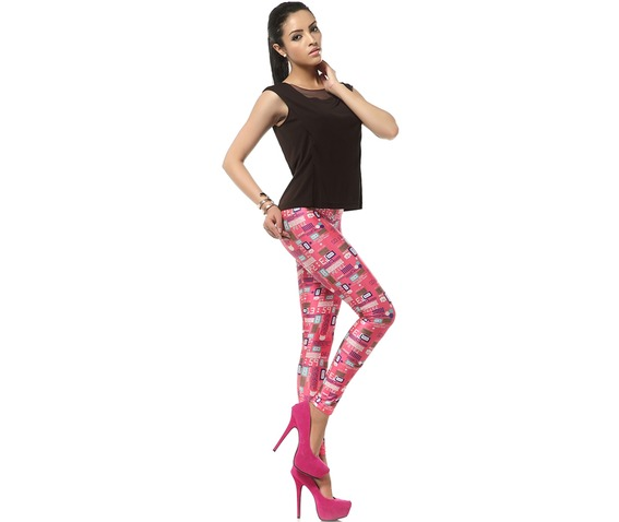 Welcome Pink World Barbie Pink Kawaii Leggings_Leggings_3.jpg