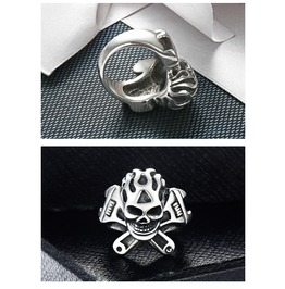 Gothic Metal Gothic Punk Skull Rings Xpr10133
