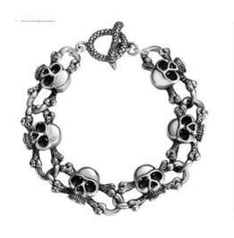 Gothic Metal Gothic Punk Skull Bracelet Xpb70187