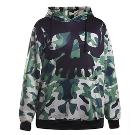 Camouflage Skull Head Printed Hoodies