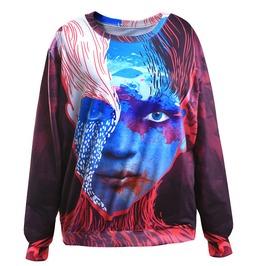 3 D Character Printed Cool Women Sweatshirts