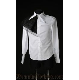 White corporate goth shirt shirts
