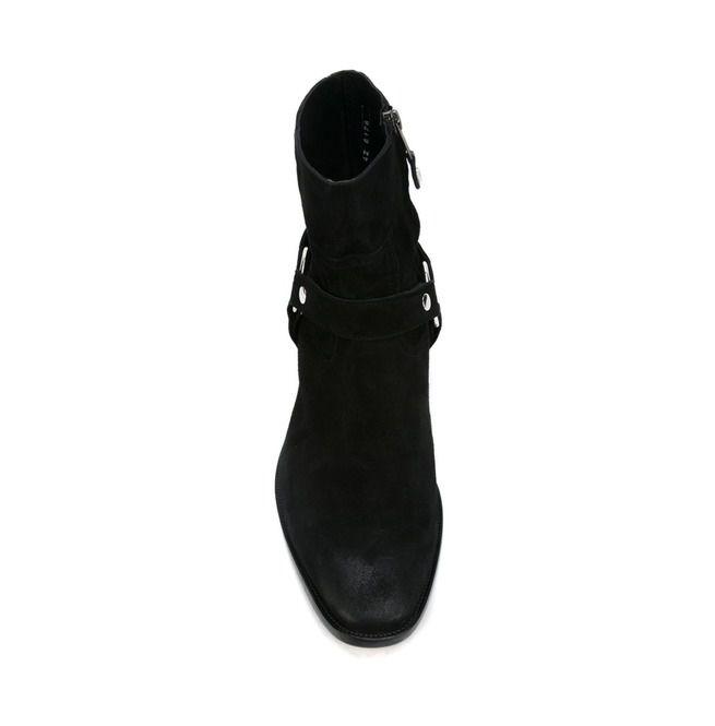 5928b7c0146 Handmade Men's Black Suede Biker Boot, Mens Suede Leather Ankle Boot
