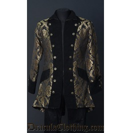 Gold Brocade Pirate Jacket