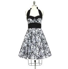 Rockabilly Skull Dress Pin Up Dress Steampunk Gothic Halloween Party Dress